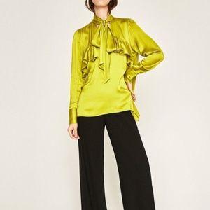 Zara satin blouse